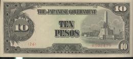 Billet 10 Pesos Philippines 1942 Occupation Japonaise SUP - Philippines