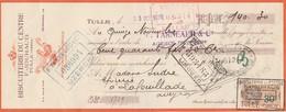 Lettre Change Illustrée Coq 23/10/1929 JOUHAUD Biscuiterie Du Centre TULLE Corrèze - Sudre Lafouillade Aveyron - Lettres De Change