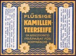 PRINT From J. STERN BERLIN - KAMILLEN  TEERSEIFE  DAMEN -  Cc 1910/5 - Etiquettes
