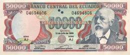 Ecuador 50.000 Sucres, P-130d (12.7.1999) - UNC - Ecuador