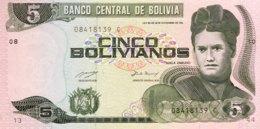 Bolivia 5 Bolivianos, P-209 (1993) - UNC - Bolivie