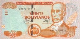 Bolivia 20 Bolivianos, P-244 (2015) - UNC - Bolivie