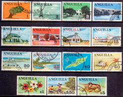 Anguilla 1967-68 SG #17-31 Compl.set Used - Anguilla (1968-...)