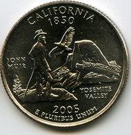 Etats-Unis USA 25 Cents Quarter 2005 P California UNC KM 370 - Émissions Fédérales