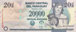 Paraguay 20.000 Guaranies, P-230a (2008) - UNC - Serie B - Paraguay