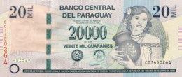 Paraguay 20.000 Guaranies, P-230b (2009) - UNC - Serie C - Paraguay