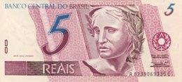 Brazil 5 Reais, P-244Ad (1997) - UNC - Sign. 39! - Brésil