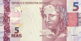 Brazil 5 Reais, P-253a (2010) - UNC - Brésil