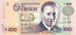 Uruguay 100 Pesos Uruguayos, P-85A (2006) - UNC - Uruguay