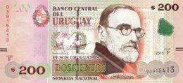 Uruguay 200 Pesos Uruguayos, P-96 (2015) - UNC - Uruguay