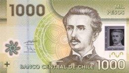 Chile 1.000 Pesos, P-161a (2010) - UNC - Chili