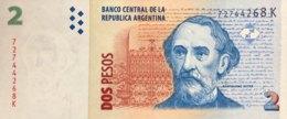 Argentina 2 Pesos, P-352 (2002) - UNC - Serie K - Argentine