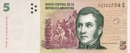 Argentina 5 Pesos, P-353a (2003) - UNC - Serie E - Argentinien