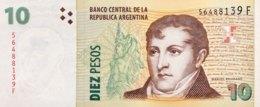 Argentina 10 Pesos, P-354a (2003) - UNC - Scarce Series F! - Argentinien