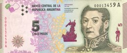 Argentina 5 Pesos, P-359 (2015) - UNC - Argentine
