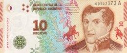 Argentina 10 Pesos, P-360 (2016) - UNC - Argentine