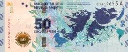 Argentina 50 Pesos, P-362 (2015) - UNC - Falkland War Banknote - Argentine