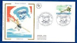 Enveloppe Premier Jour  / Roland Garros / Saint Denis  / 2 Juillet 1988 - FDC