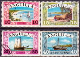 Anguilla 1968 SG #32-35 Compl.set Used Ships - Anguilla (1968-...)