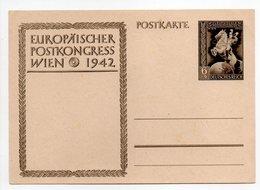 - POSTKARTE EUROPÄISCHER POSTKONGRESS WIEN 1942 - - Ganzsachen