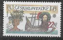 1992 TCHECOSLOVAQUIE 2913** Europa, Découverte Amérique, Bateau, Navigateur - Tchécoslovaquie