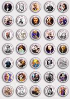 35 X Thomas Alva Edison BADGE BUTTON PIN SET 2 (1inch/25mm Diameter) - Celebrities