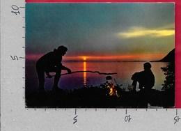 CARTOLINA VG NORVEGIA - NORDKAPP - The Midnight Sun  At Nupen - 10 X 15 - ANN. 1977 - Norvegia