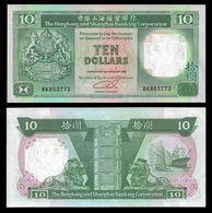 Hong Kong 10 DOLLARS 1992 P 191c UNC - Hongkong