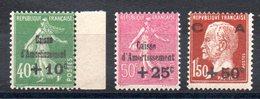 FRANCE - YT N° 253 à 255 - Neufs ** - MNH - Cote: 275,00 € - Neufs