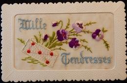 CARTE POSTALE CPA MILLE TENDRESSES BRODÉE 1925 - Saint-Valentin