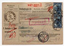 - Bulletin D'expédition HEILBRONN (Allemagne) Pour København (Copenhague / Danemark) 31.1.1918 - A ETUDIER - - Germania