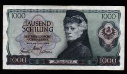 Billet De 1000 Schilling Banque Nationale D 'Autriche Du 1.07.1966 Pick : 147 A - Austria