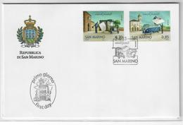 SAN MARINO 2013 - EUROPA CEPT - VEICOLI POSTALI   - FDC - FDC