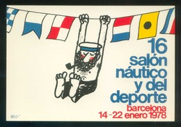 Barcelona. Ilustrador: Cesc *XVI Salón Náutico Y Del Deporte* Imp. Edigraf.  Nueva. - Eventos