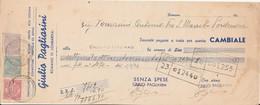Cambiale Del 1946 Con Marca D Bollo Giulio Pagliarini - Tomadini Di Pordenone - Cambiali