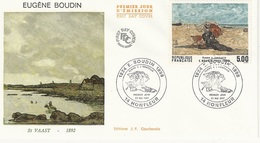 "FDC - France Env. 1er Jour ""Eugène Boudin"" - St Vaat 1892 - 23 Mai1987 Honfleur - Timbre 2474 - 1980-1989"