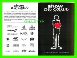 ADVERTISING - PUBLICITÉ DE MUSIQUES - SHOW AU COEUR, MONTRÉAL 1997 - CARTE DOUBLE - MEDLEY - POP MÉDIA No 64 - - Publicité