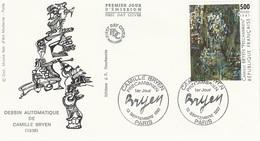 """FDC - France Env. 1er Jour """"Dessin Automatique De Camille Bryen"""" (1936) - 12 Sept. 1987 Paris - Timbre 2493 - 1980-1989"""