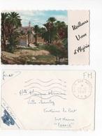 MEILLEURS VOEUX D'ALGERIE - PTE CARTE COULEUR AVEC ENVELOPPE  10.50 X 6.5    - VOYAGEE EN 1961 FRANCHISE MILITAIRE - New Year
