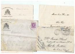 ARMEE BELGE CORRESPONDANCE MILITAIRE DE SARS LA BUISSIERE 1924 - 1914-18