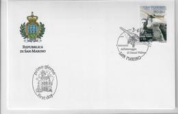 SAN MARINO 2013 - 100°  ATTERRAGGIO GIANNI WIDMER  - FDC - FDC
