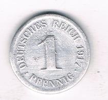1 PFENNIG  1917 F    DUITSLAND /0920/ - [ 2] 1871-1918 : Empire Allemand