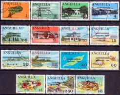 Anguilla 1969 Mi #53-67 Compl.set Used Independence - Anguilla (1968-...)