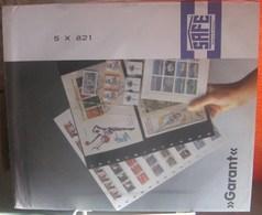 I.D. - Feuilles GARANT - 1 POCHE Fond Transparent - REF. 821 (5) (début De Jaunissement) - Albums & Reliures