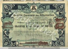 Societe Centrale Des Allumettes  Paris - Industrie