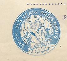 Lettre 1946 / 90 BELFORT / Union Des Vrais Résistants / Séance Du Comité / Extrait De Procès Verbal - Documenten