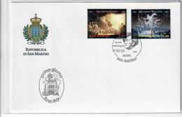 SAN MARINO 2013 - 200° NASCITA VERDI E WAGNER  - FDC - FDC