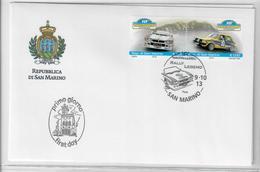 SAN MARINO 2013 - RALLY LEGEND DI SAN MARINO - FDC - FDC