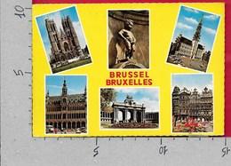 CARTOLINA VG BELGIO - BRUXELLES - Vedutine Multivue - 10 X 15 - ANN. 1971 - Belgio