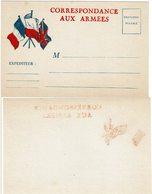 LBR41 - CARTE DE FRANCHISE MILITAIRE NEUVE - DECALQUE AU VERSO - Marcophilie (Lettres)